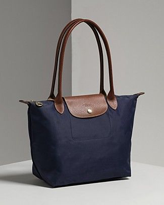 longchamp le pliage navy medium long handle - Google Search ...