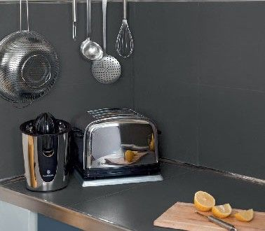 V33 pour carrelage de crédence cuisine en gris
