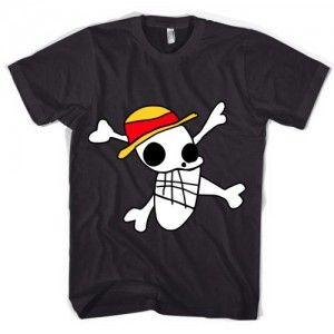 ONE PIECE Straw Hat Crew Frauen T-Shirt schwarz