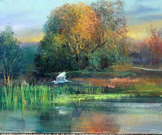 A Morning Flight by Gil Dellinger Pastel ~ 24 x 30