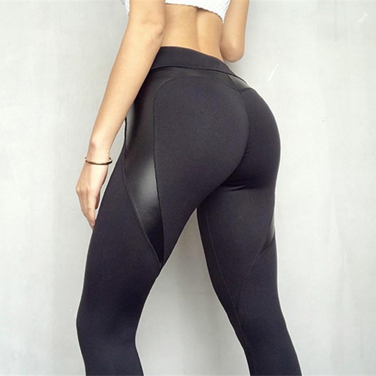 Heart Shape Booty Sport Skinny Pants Women Workout Sports Yoga Athletic Leggings