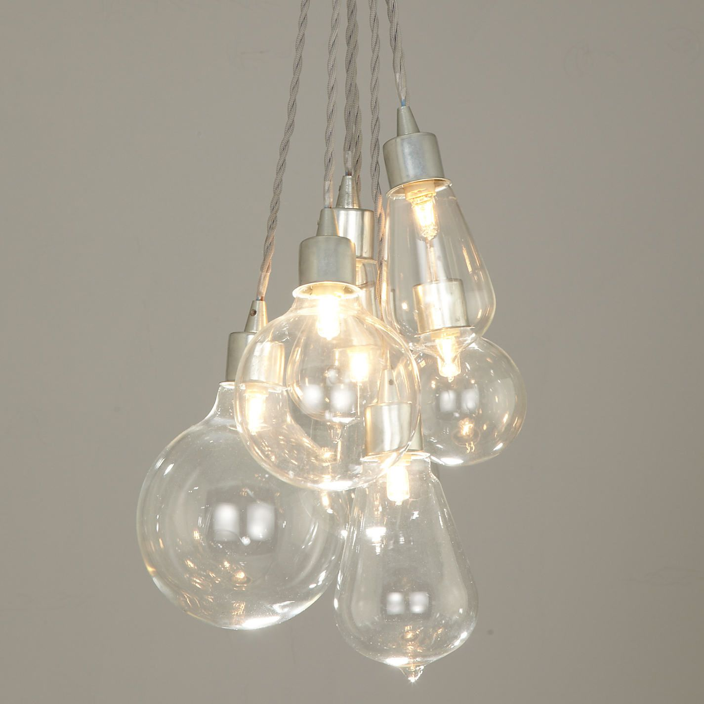 Buy John Lewis Croft Collection Kinsley Glass Dangle Cluster Ceiling Light | John Lewis