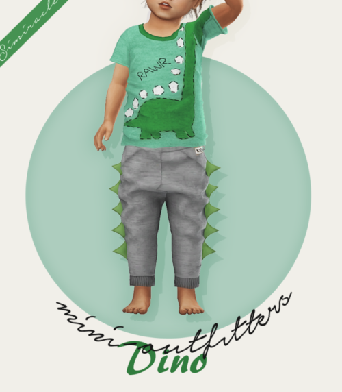 Dino Joggers - Toddler Version - 3T4 ♥ | Sims cc | Sims 4