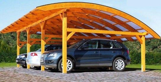 Carport Bois Schwaben Epaisseur Poteaux 14 cm - LeKingStore - monter un garage en bois