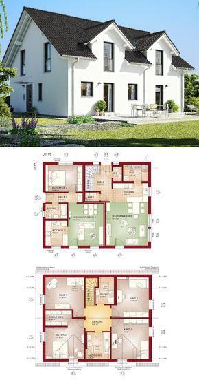 Einfamilienhaus Mit Einliegerwohnung   Haus Evolution 207 V 5 Von Bien  Zenker   Fertighaus Bauen Als Zweifamilienhaus Mit Sattelu2026