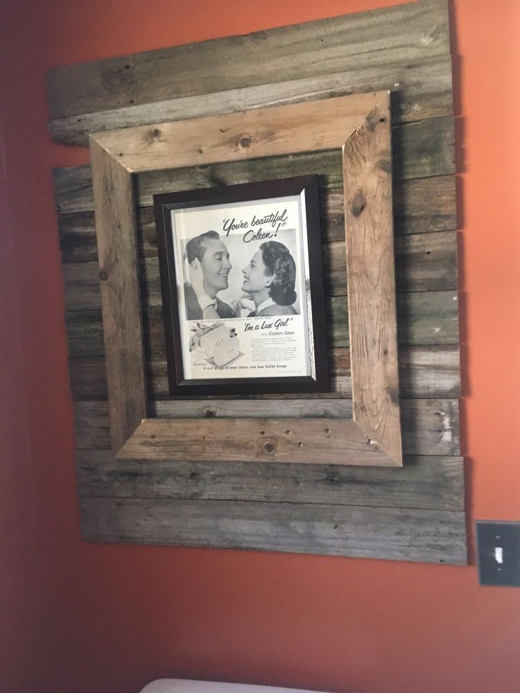 Planked / Reclaimed Wall Treatment With Picture Frame   Espejo, Deco ...