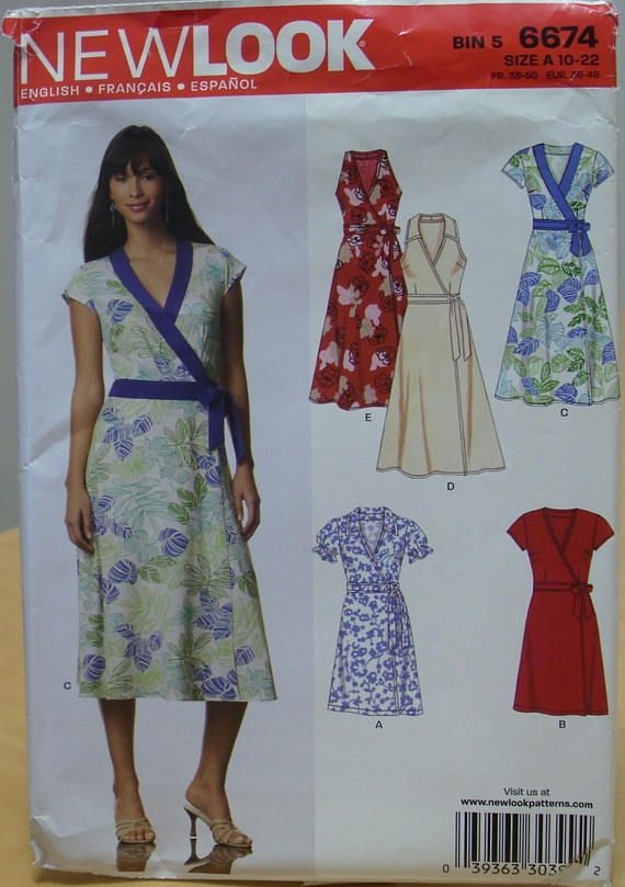 Free shipping New Look 6674 dress sewing pattern 10-22 UNCUT | My ...