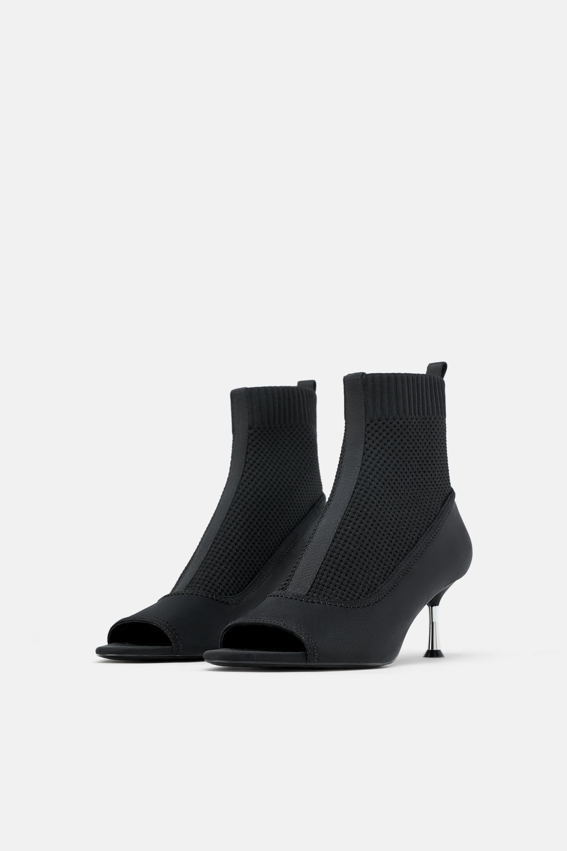 Image 2 of STRETCH FABRIC HIGH HEEL SOCK ANKLE BOOTS from Zara