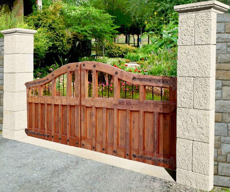 Driveway gates wood driveway gate design image pic 22 for Wooden driveway gates designs