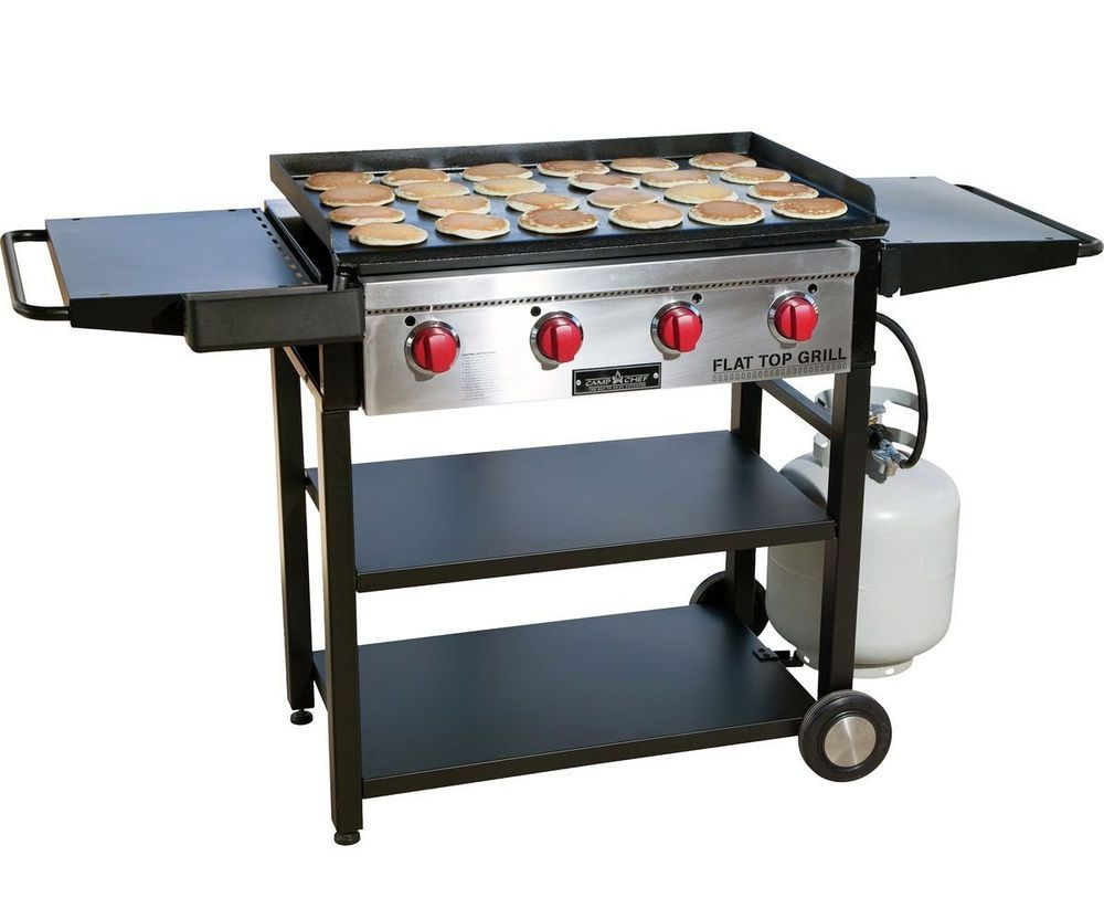 Camp chef flat top grill gas griddle bbq outdoor cooking for Gas grill tops outdoor kitchen
