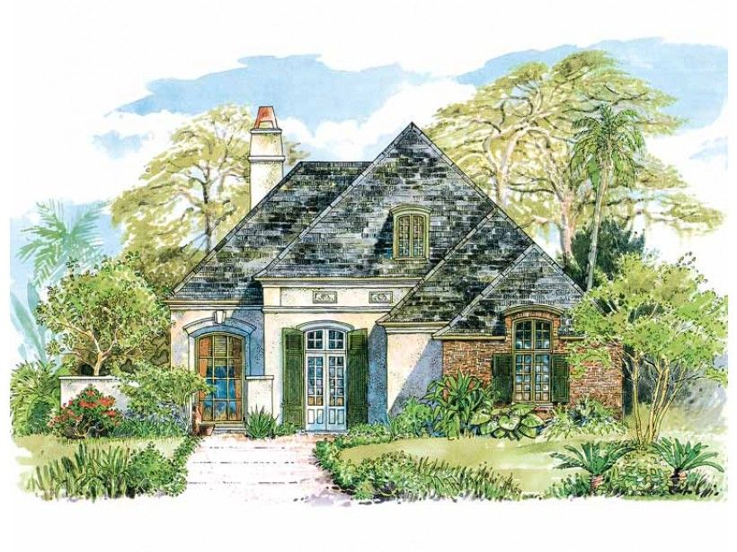 Eplans House Plan: Subtle details make this home an elegant French country design. The entry foyer  is found within a courtyard and opens to the dining room at the left. The  kitchen, breakfast room and family room work toget