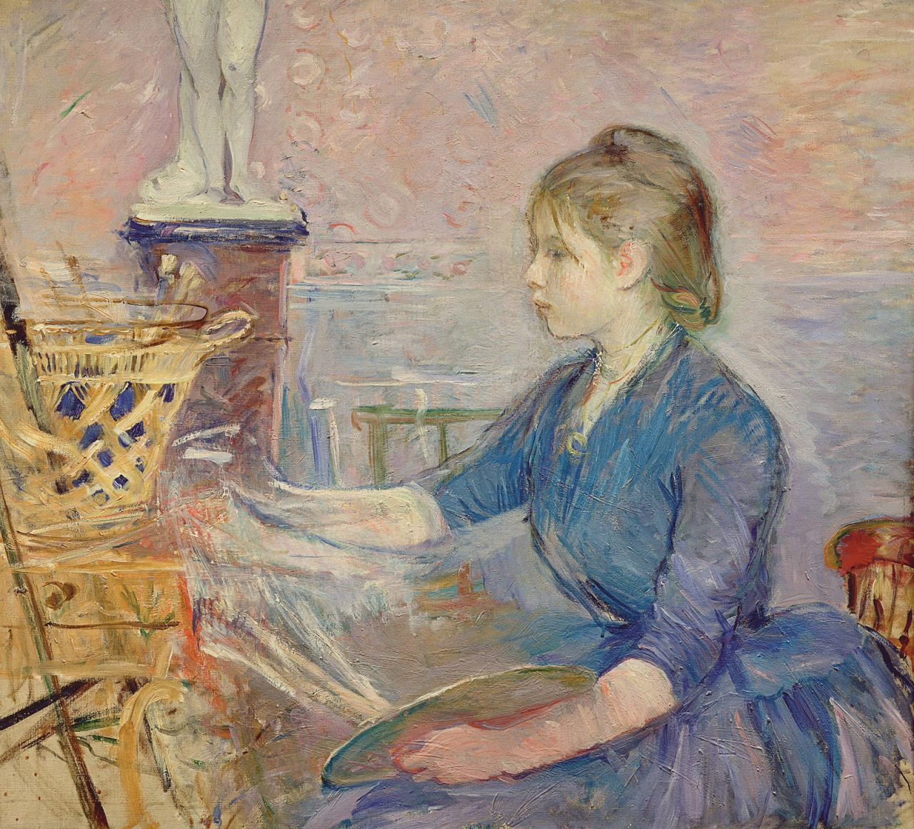 Paule Gobillard Painting (1886). Berthe Morisot (French, 1841-1895). Oil on canvas. Musée Marmottan Monet.