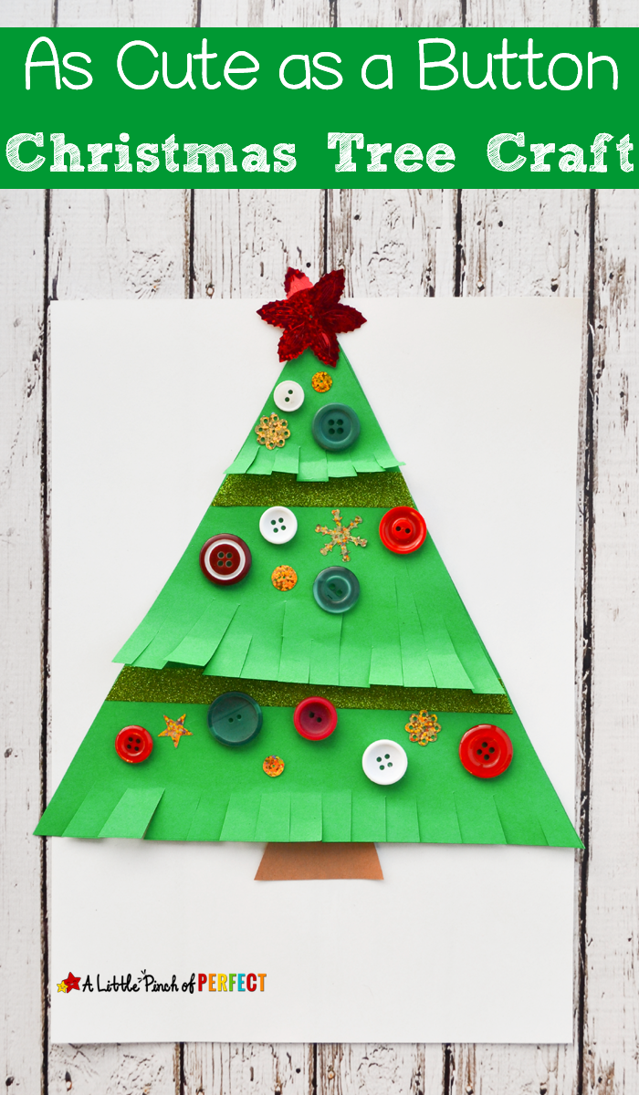 Free Christmas Card Ideas For Children To Make Part - 35: As Cute As A Button Christmas Tree Craft For Kids: Easy To Make Decoration  Or