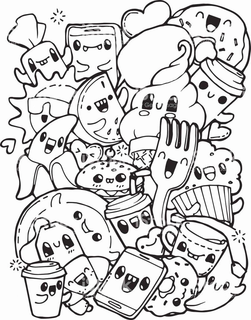 Kawaii Disney Coloring Pages Beautiful Coloring Coloring Tremendous Food Sheets Halaman Mewarnai Buku Mewarnai Coretan