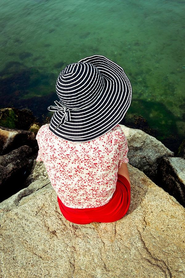 ef57797ac96 Gabriela Herman. black and white chapeau plus some floral and red ...