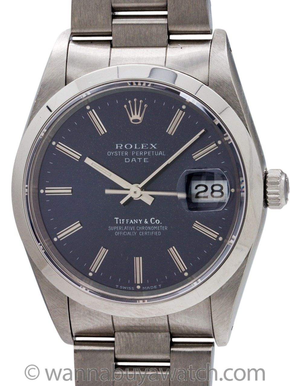 Rolex Oyster Perpetual Date Ref 15200 Tiffany Co Circa 1990 Rolex Rolex Oyster Perpetual Date Oyster Perpetual