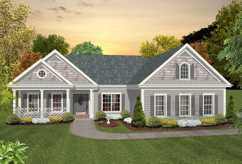 Maplecrest Mountain Home Plan Front of Home 013D 0226