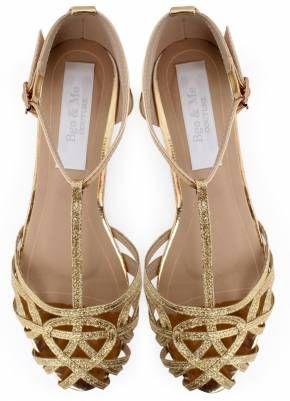 70 Cangrejeras Moda Bgo Me Zapatos Y Glitter Zapatos Doradas amp; XEBEH