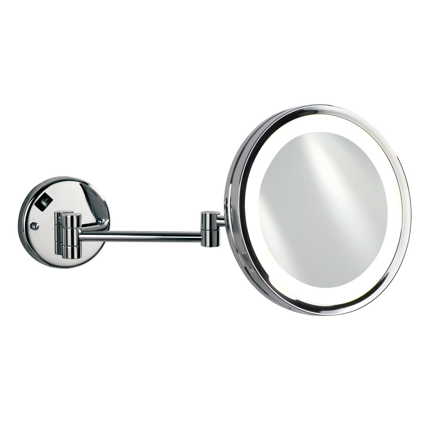 Empire 5x Magnification Wall Mount 10 Lighted Makeup Mirror