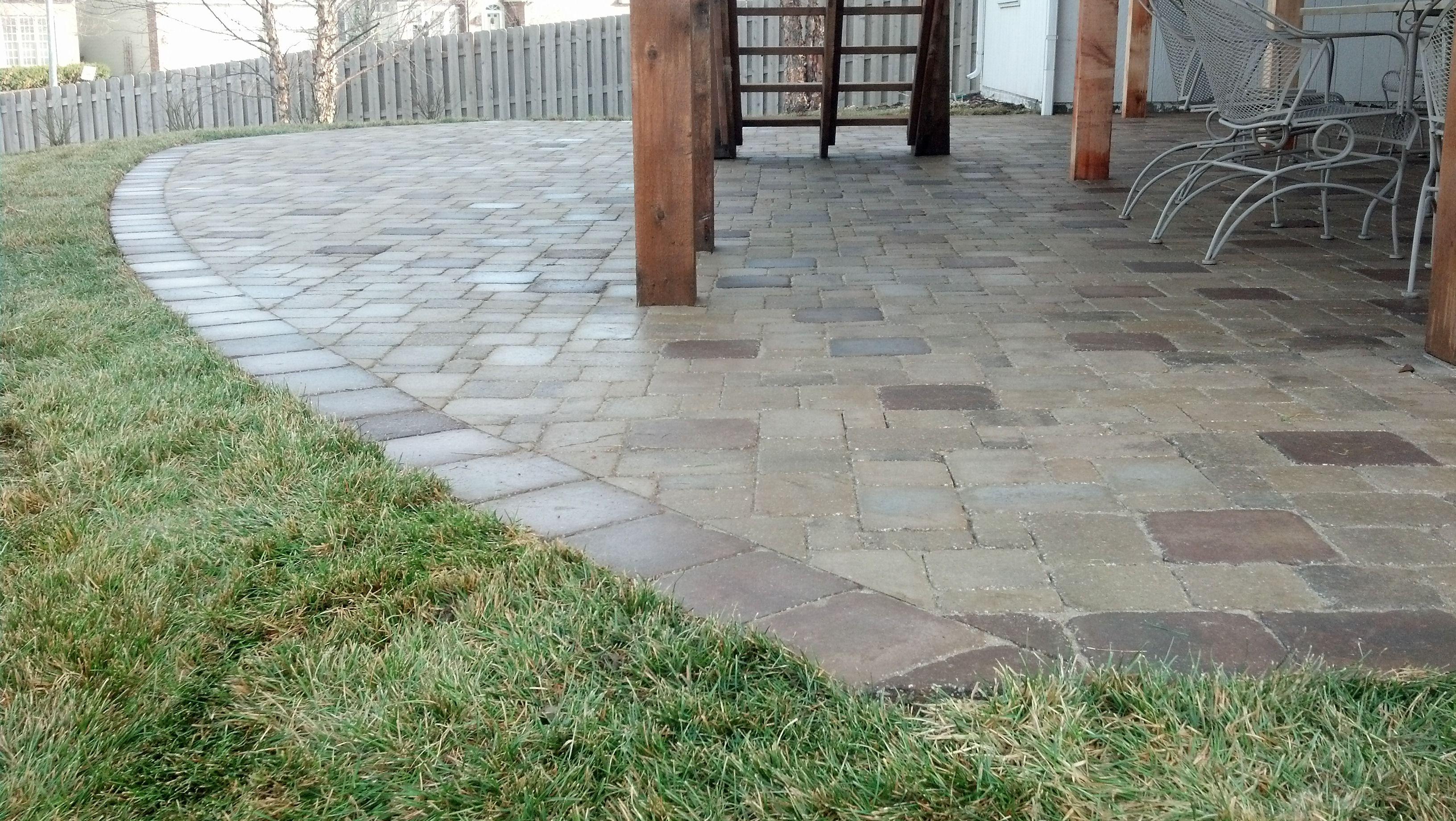 Paver patio under deck mechaley landscaping paver patios paver patio under deck mechaley landscaping baanklon Choice Image