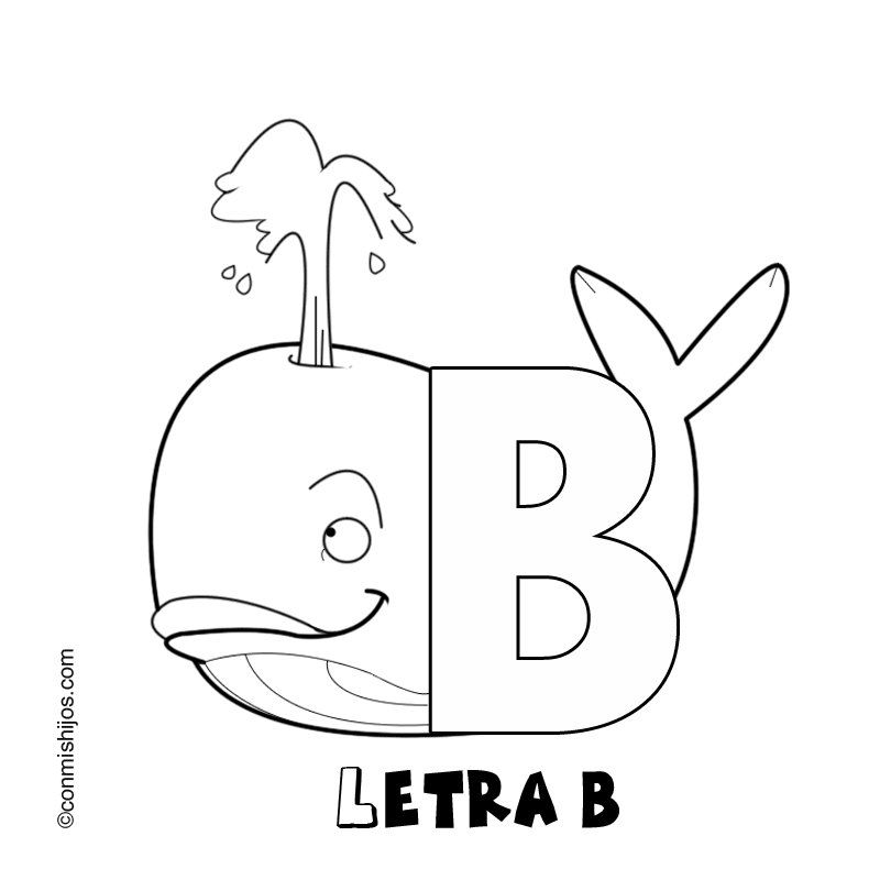 Letra B Dibujos Para Colorear | Pinterest | Searching