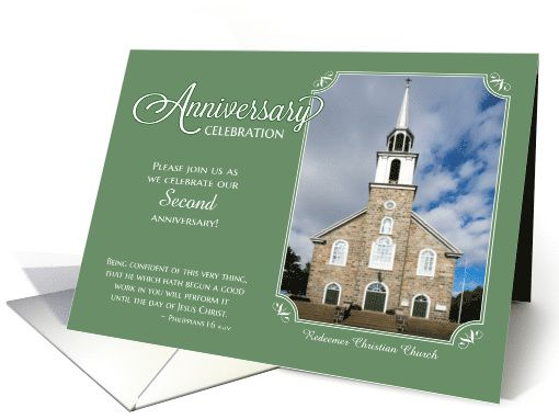 Church Anniversary Invitation custom name year photo card