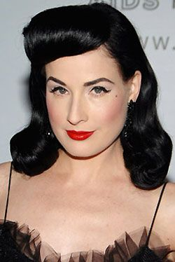 How to 1940s inspired new year 39 s eve glamour dita von - Peinados pin up fotos ...