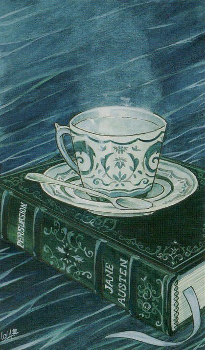 Ace of Cups (Teacups) - The Tarot of Jane Austen by Diane Wilkes, Lola Airaghi