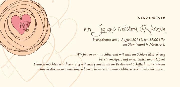 Auf Dem Zweiten Blatt Dieser Hochzeitseinladungskarten Sieht Man Den Einladungstext  Hochzeit