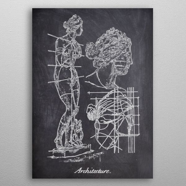 woman sculpture by FARKI15 DESIGN | metal posters - Displate | Displate thumbnail