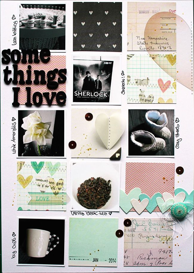 #papercraft #scrapbook #layout. Some Things I Love by *Vanessa Menhorn* at @Studio_Calico