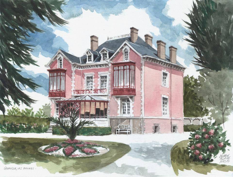 Aquarelle Sylvain Allaire Granville Les Rhums La Maison De