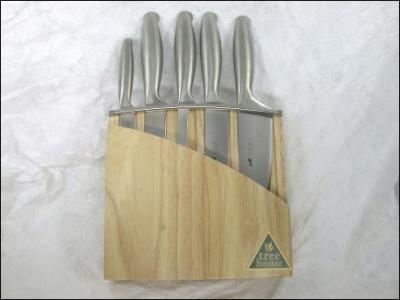 Fuso Messen+blok hout | Fuso Sabatier | Keukenmessen | BestelKeukenGerei (Goodtimegifts)