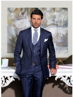dark blue three piece italian suit - Google Search | Glenngarry ...