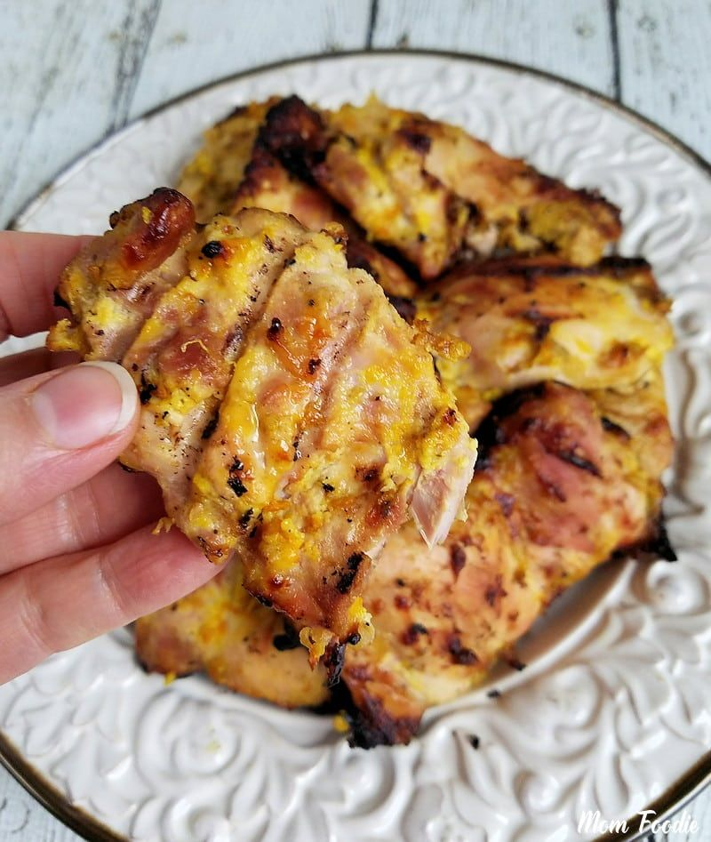 These Grilled Boneless Chicken Thighs In Turmeric Greek Yogurt Marinade Are Boneless Chicken Thigh Recipes Slow Cooker Chicken Thighs Yogurt Marinated Chicken