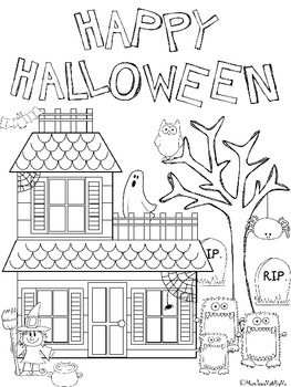 Freebie What A Cute Halloween Coloring Sheet Halloween Coloring Sheets Halloween Coloring Halloween Classroom