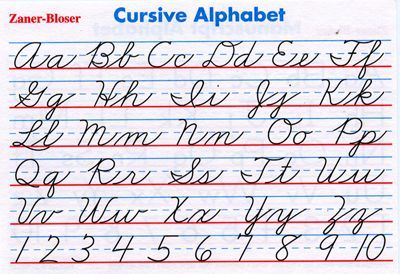 Revered image intended for cursive alphabet printable