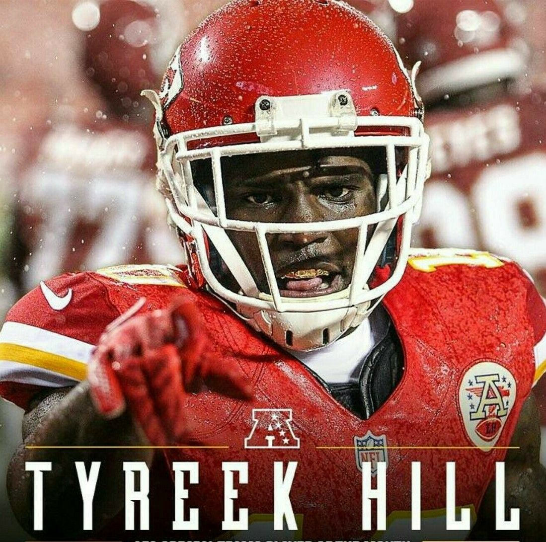 Tyreek Hill Kansas city chiefs football, Chiefs football