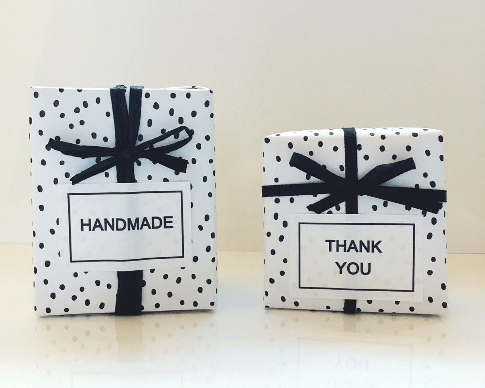 12 handmade/thank you stickers,for you, gift labels,gift stickers ...