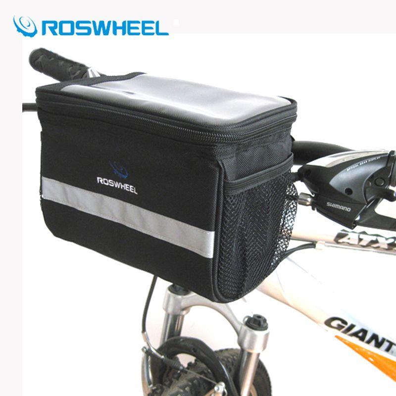 ROSWHEEL Bike Bicycle Cycling Front Basket Pannier Handlebar Frame Storage Bag