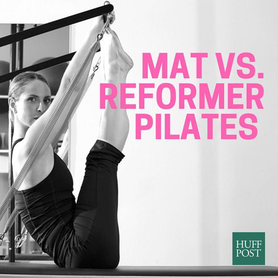 Pilates The Difference Between Mat And Reformer With Images Pilates Reformer Pilates Reformers