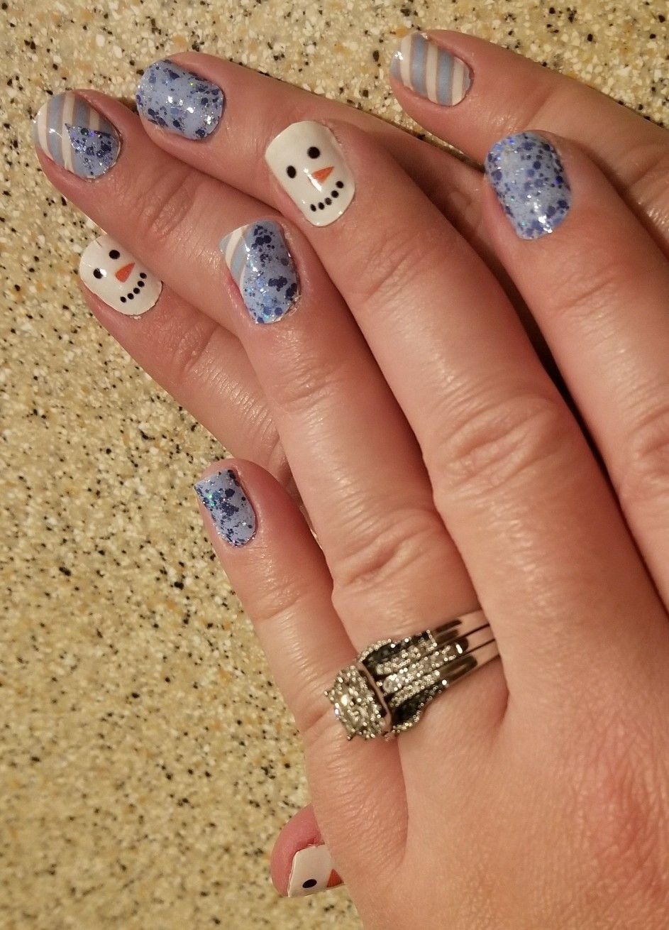 Color Street, Christmas nails, Winter fun, Ice Castle, snowman ...