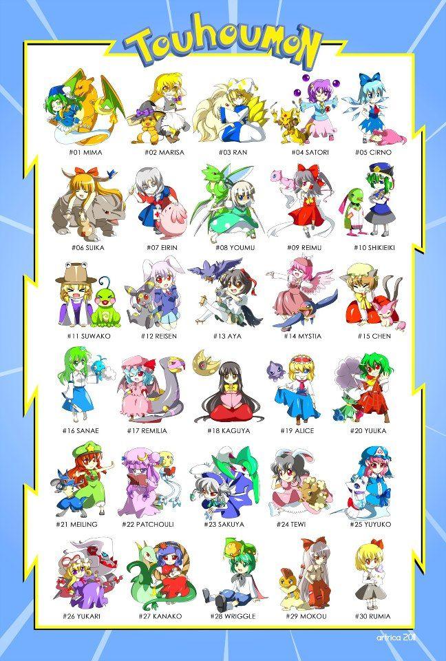 Touhou-mon! Gotta catch 'em all~ #Pokemon | POKEMON | Pokemon