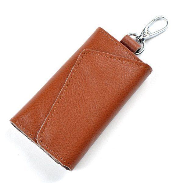 99baa57a4b71 Men Cow Leather Wallet Key Genuine Leather Passport Wristlet Wallet ...