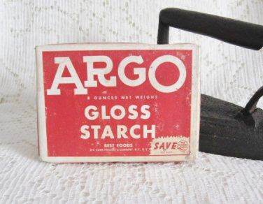 Vtg 8 Oz Argo Gloss Starch Advertising Box With Contents Red White Box Vintage Laundry Aide 10 00 Vintage