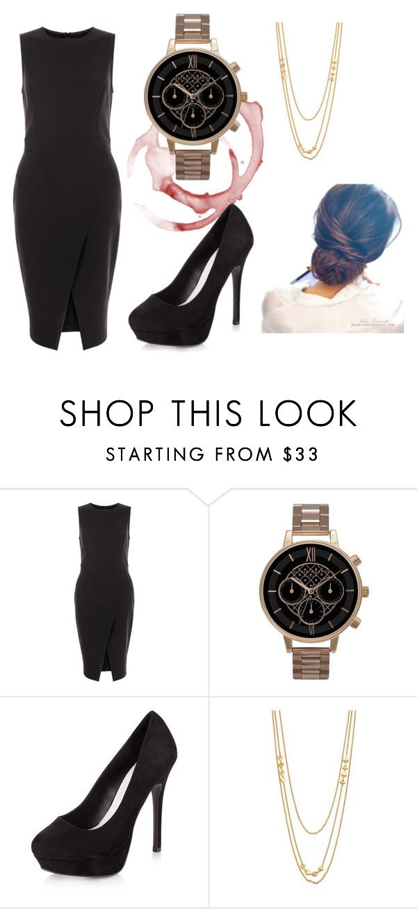 """""""Cocktail Dress"""" by fashione033 on Polyvore featuring New Look, Olivia Burton, Gorjana, cute, DateNight, party and formal"""