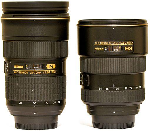 Nikkor 24 70mm F 2 8 Fx Vs Nikkor 17 55mm F 2 8 Dx Binoculars Camera Nikon
