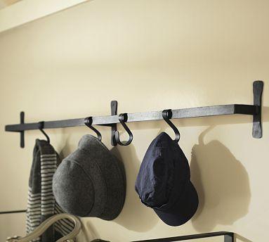 Use As A Pot Rack 25 Lbs Max Load Per Hook 89 Blacksmith Wall Mount Bar With Hooks Potterybarn