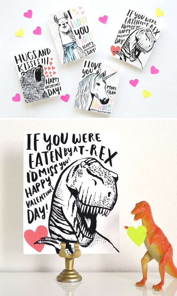 Cute And Clever Printable Valentine S Day Cards Valentine S Day