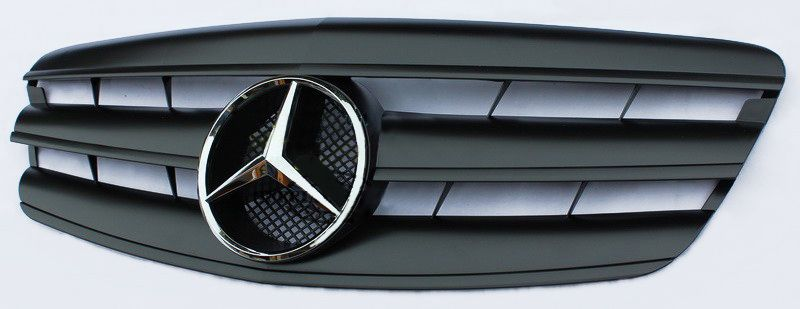 s class w221 grill pre facelift matte black color. Black Bedroom Furniture Sets. Home Design Ideas